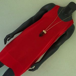 Leith Red Shift Dress